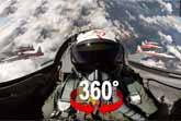 Aerobatics In The Swiss Alps - 360 Degree Cockpit View